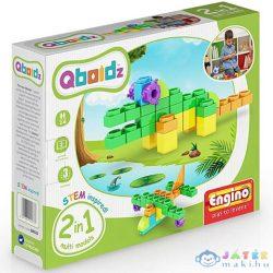 Engino: Qboidz Krokodil 2 Az 1-Ben Építőjáték Szett (Engino, ENGQB02A)
