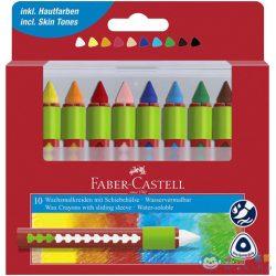 Faber-Castell: 10Db-os Zsírkréta Készlet Fogórésszel (Faber-Castell, 120014)