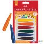 Faber-Castell: Csepp Alakú 6Db-os Zsírkréta (Faber-Castell, 120404)