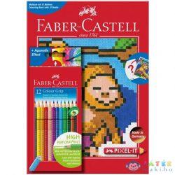 Faber-Castell: Grip Színes Ceruza Készlet 12Db-os + Pixel Színező (, 201571)