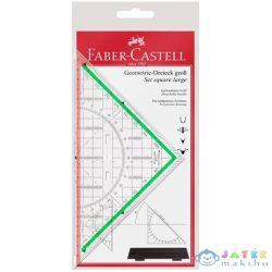 Faber-Castell: Háromszög Vonalzó Eltavolítható Fogóval 20Cm-Es (Faber-Castell, 177090)
