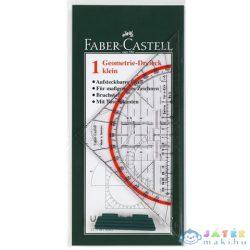 Faber-Castell: Háromszög Vonalzó Szögmérővel (Faber-Castell, 177199)