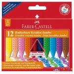 Radírozható Jumbo Zsírkréta 12Db-os Szett - Faber-Castell (Faber-Castell, 122540)