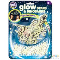 Csillagok És Dinoszauruszok Foszforeszkáló Matrica Csomag (Flair Toys, B8624)