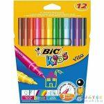 Bic Kids: 12 Darabos Filctoll Szett (Fűzfő, V026BIC00)