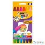 Bic Kids: 12 Darabos Olajpasztell Zsírkréta (Fűzfő, V027BIC03)