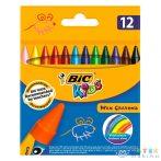 Bic Kids: 12 Darabos Zsírkréta Szett (Fűzfő, V027BIC00)