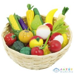 Nagy Kosaras Gyümölcs És Zöldség Szett (Goki, GK 51660)