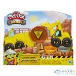 Play-Doh: Kerekek - Kotró És Rakodó Gépek Gyurmaszett (HASBRO, E4294)