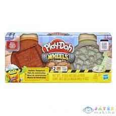 Play-Doh: Kerekek - Tégla És Kő Gyurmakészlet (HASBRO, E4508)