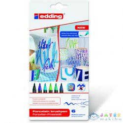 Ico: Edding 4200/6 Porcelán Ecsetirón Marker Hideg Színek 6Db-os (ICO, 7580206002-960699)