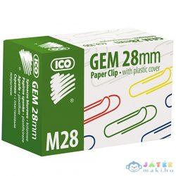 Ico: M28 Színes Gemkapocs 28Mm 100Db-os (ICO, 7350056000-188918)