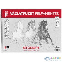 Student Spirál Félfamentes Vázlatfüzet B/4 (ICO, 7500117003-548379)