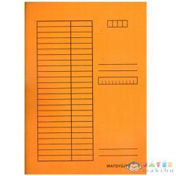 Pólyás Dosszié A4 Méretben 230G Narancssárga (Iskola, 310-0059)