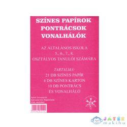 Színes Papírlapok Pontrácsok Vonalhálók 5-8. Osztályos Tanulók Részére (Iskola, 1519-015190)