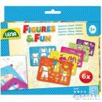 Lena: Figurakészítő Rajzsablon 6Db-os Készlet (LENA, 65750L)