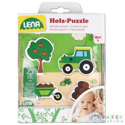 Lena: Traktor Fa Formaillesztő Puzzle (LENA, 32164)