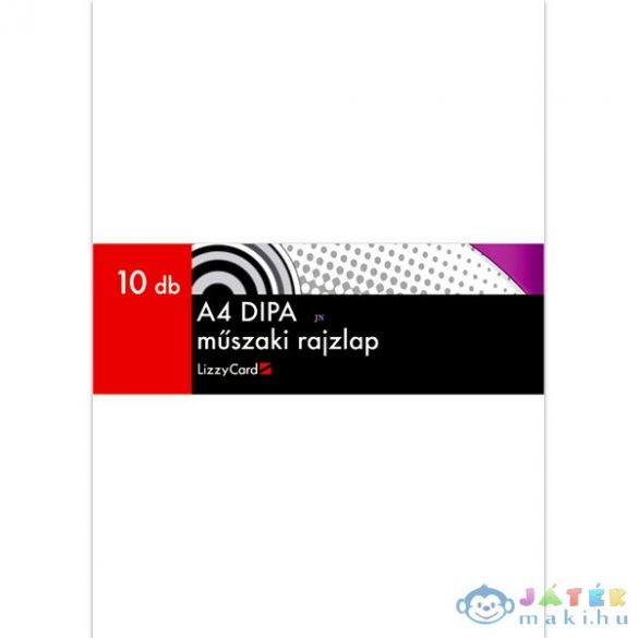 Dipa Műszaki Rajzlap - Famentes, A4-Es - 10 Db (Lizzy Card, 32)