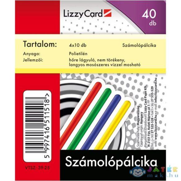 Műanyag Számoló Pálcika - 40 Db (Lizzy Card, 642)
