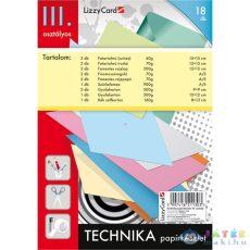 Technika Papírkészlet - 3. Osztály - 19 Db-os (Lizzy Card, 677)