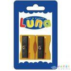 Sárga Műanyag Hegyező 2Db-os (Luna, 601831)
