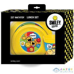 Smiley 3 Db-os Műanyag Reggeliző Szett (Luna, 504547)