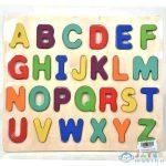 Abc Nyomtatott Nagybetűs Formaillesztő Színes Fa Puzzle 26Db-os Szett (Magic Toys, MKL543713)