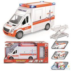 City Service Mentőautó Fénnyel És Hanggal 16Cm (Magic Toys, MKJ803896)