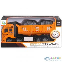 City Truck: Négytengelyes Fém Teherautó Modell Billencses Felépítménnyel - Fénnyel És Hanggal (Magic Toys, MKL261068)