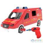 Diy Csináld Magad Összeszerelhető Tűzoltóautó Fény És Hang Effektekkel 63Db-os Készlet (Magic Toys, MKL367223)