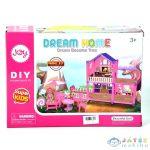 Dream Home Pink Építhető Babaház Kiegészítőkkel (Magic Toys, MKL560768)