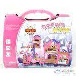 Dream Home Pink Építhető Babaház Kiegészítőkkel Bőröndben (Magic Toys, MKL560822)