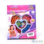 Ékszerkészítő Gyöngy Szett Átlátszó És Betűs Gyöngyökkel (Magic Toys, MKK292425)