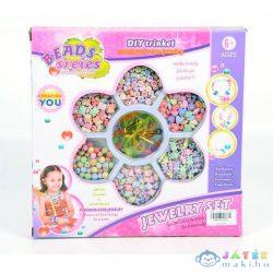 Ékszerkészítő Szett Vegyes Színes Gyöngyökkel (Magic Toys, MKK292209)