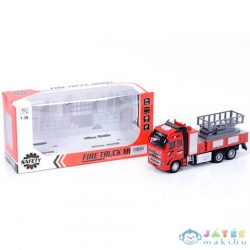 Emelőkosaras Tűzoltóautó Fénnyel 1/38 (Magic Toys, MKK204720)