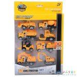 Építőipari Fém Járművek 8Db-os Készlet (Magic Toys, MKK500910)