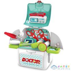 Fehér Hordozható 2Az1-Ben Doktoros Játékszett Hátizsákban (Magic Toys, MKL414005)