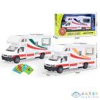 Fém Lakóautó Modell Járműves Kártyákkal 17Cm Háromféle Változatban (Magic Toys, MKL587354)