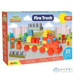 Fire Truck Tűzoltós Építőkocka Szett 22Db-os (Magic Toys, MKL548645)
