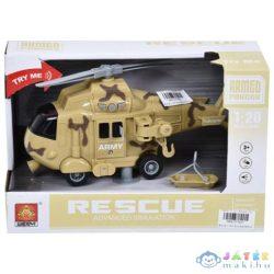 Harci Helikopter Fénnyel És Hanggal 1/20 - Homokszínű (Magic Toys, MKL077621)