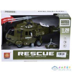 Harci Helikopter Fénnyel És Hanggal 1/20 - Zöld (Magic Toys, MKL077594)