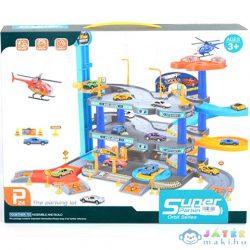 Három Szintes Parkolóház Helikopterrel És Két Kisautóval (Magic Toys, MKL060602)