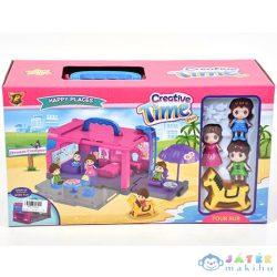 Hordozható Turistabusz Alakú Szétnyitható Játékszett Kiegészítőkkel (Magic Toys, MKL365909)