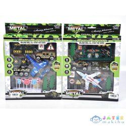 Katonai Játék Szett Repülővel És Kiegészítőkkel Kétféle Változatban (Magic Toys, MKL153959)