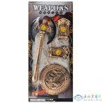 Középkori Bárd Pajzzsal És Kézfej Védővel 4Db-os Szett (Magic Toys, MKL543308)