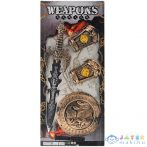 Középkori Kard Pajzzsal És Kézfej Védővel 4Db-os Szett (Magic Toys, MKL543299)
