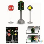 Közlekedési Táblák 3 Db-os Játékszett (Magic Toys, MKL587714)