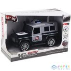 Lendkerekes Rendőrségi Terepjáró Autó Fény És Hang Effektekkel 1/20-As Méretben (Magic Toys, MKL402323)