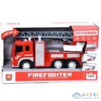 Létrás Tűzoltókocsi Fénnyel És Hanggal 1/16 (Magic Toys, MKK765249)