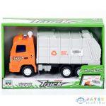 Narancssárga Szemétszállító Teherautó Fénnyel (Magic Toys, MKK180015)